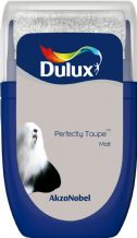 Dulux Perfectly Taupe emulsion tester